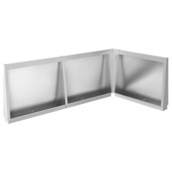 Miniature-1 Urinal stall corner modular stainless steel recessed or floor standing URPX-600