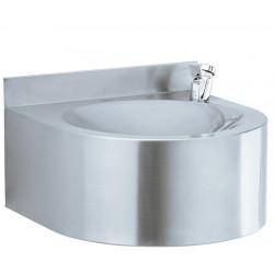 Fuente de agua de pared en acero inoxidable cepillado