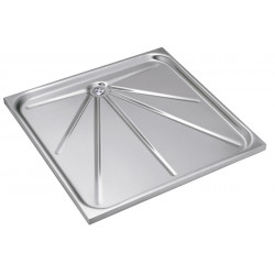 Shower tray recessed in stainless steel vandal proof