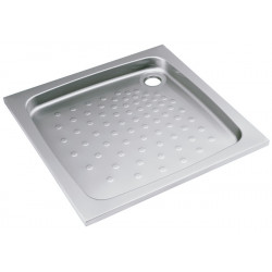 Shower tray in stainless steel  recessed and seal