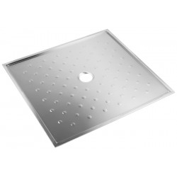 Extra flat shower tray stainless steel accessible People with Reduced Mobility