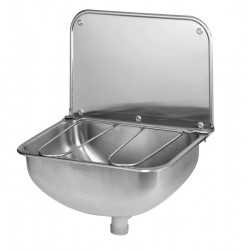 Bucket sink wall mounted stainless steel with grid