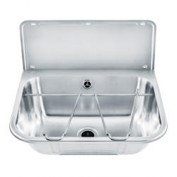 Miniature-0 Wash basin in stainless steel multi-functions with back splash B-044