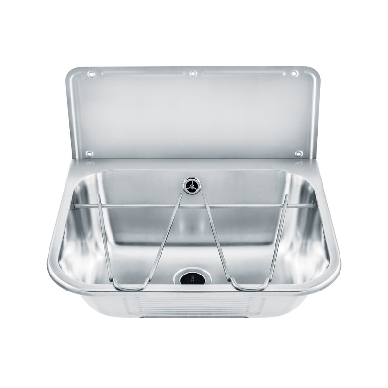 Photo Wash basin in stainless steel multi-functions with back splash B-044