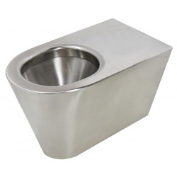 Stainless steel WC floor standing  ULTIMA vertical or horizontal outlet
