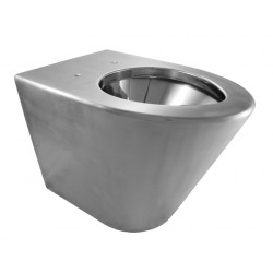 Toilet lid WC stainless steel wall hung SKOOL vandal proof and economical