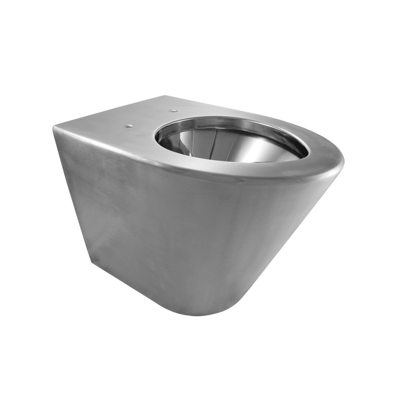 Photo Toilet lid WC stainless steel wall hung SKOOL vandal proof and economical IN-031