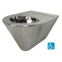 Cubeta suspendida ampliada para discapacitados SKOOL acero inoxidable