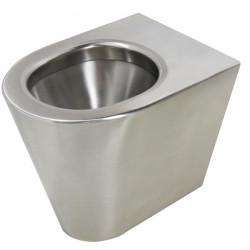 WC on its own stainless steel steel vandal proof floor standing