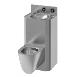 Wall-hung wash basin and WC combination COMPAC