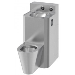 Combi washbasin floor-standing stainless steel central version