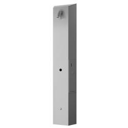 Temporizador de ducha integrado en el panel de acero inoxidable con indicador luminoso LCD