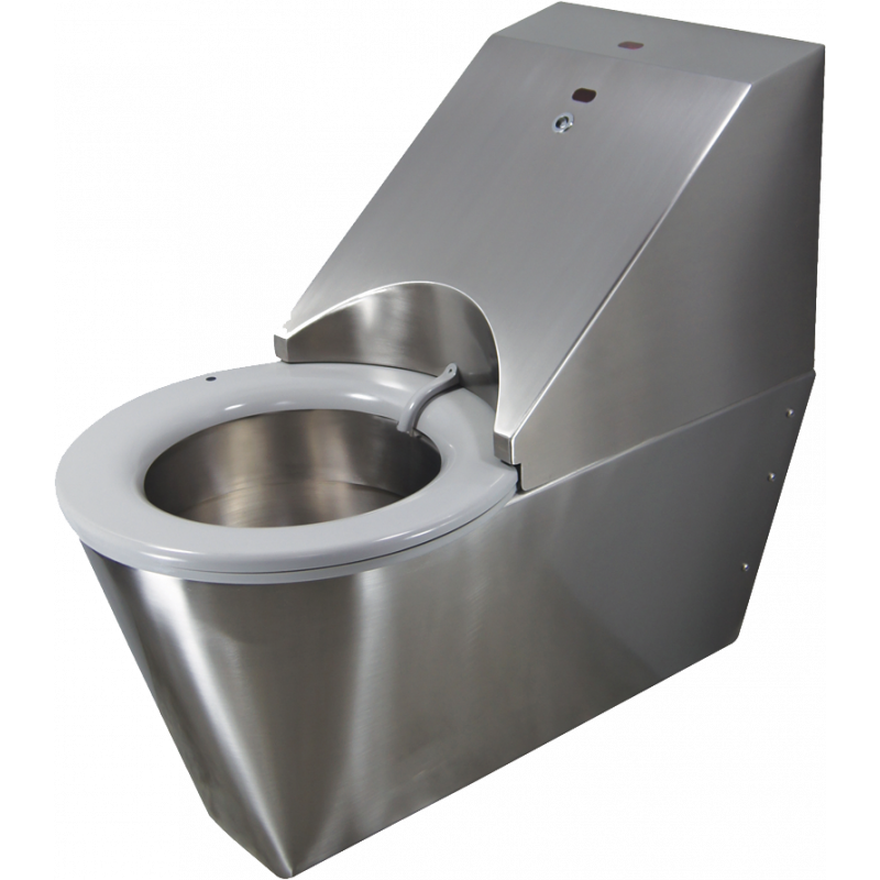 Photo WC autonettoyant suspendu inox HYGISEAT handicapé SUP1106