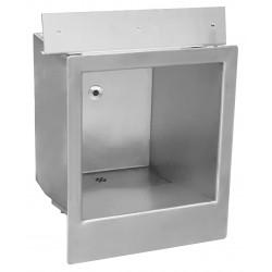 Lavabo automático antivandálico de acero inoxidable con detección integrada