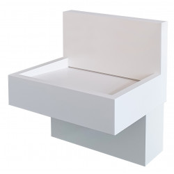 Wall-mounted washbasin with resin credenza