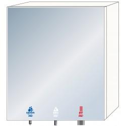 Armario con espejo 3 en 1 para jabón, agua y aire para lavabos comunitarios