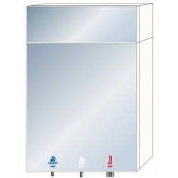 Miniature-3 3-in-1 soap, water and air mirror cabinet for community washbasins RES-850