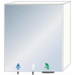 3-in-1 mirror cabinet for soap, water and paper towels