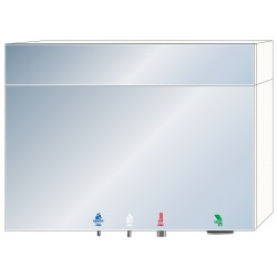 Miniature-1 4 in 1 soap - water - air - paper mirror cabinet RES-855