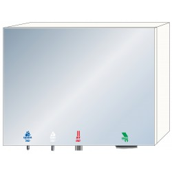 4 in 1 soap - water - air - paper mirror cabinet