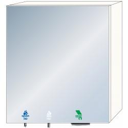 Meuble haut miroir 3 en 1 savon, eau et papier essuie-mains pour usage intensif