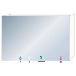 Armario con espejo 4 en 1 jabón - agua - aire - papel