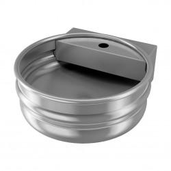 Lavabo colgante de acero inoxidable, diseño de barril de cerveza