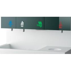 Miniature-5 Savon, eau, papier essuie-mains et gel hydro-alcoolique intégrés derrière miroir RES-868