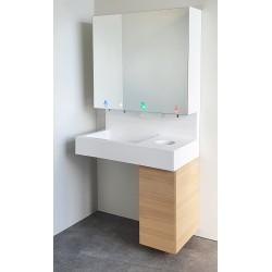 Miniature-1 Ensemble lave-mains et module miroir pour un cycle complet de lavage et désinfection des mains RES-868