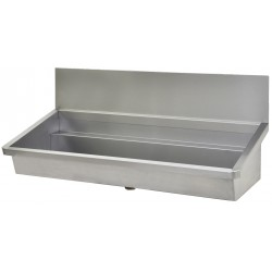 Collective wash basin stainless steel industrial with credence