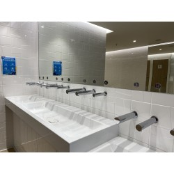 Miniature-2 Sèche-mains mural au-dessus lavabo RONDEO design assorti eau et savon SM-20