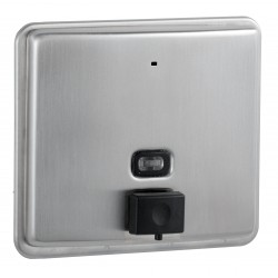 Stainless steel wall-mounted soap dispenser with anti-corrosion pump