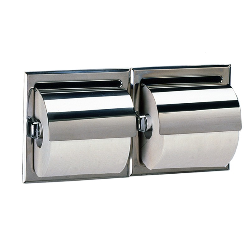 Recessed Double Toilet Roll Dispenser
