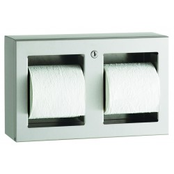Paper dispenser 2 rolls stainless steel wall mounted vandal proof
