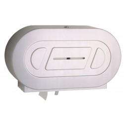 Porte-rouleaux maxi papier WC double inox grande capacité
