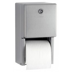 Toilet paper dispenser 2 roll in stainless steel mural