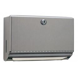 Minidispensador de toallas de papel de acero inoxidable montado en la pared con cerradura