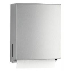 Dispensador de toallas de papel de pared de acero inoxidable para distribuir el papel sin atascos ni roturas