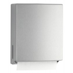 Paper towel dispenser wall mounted stainless steel without blockage