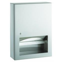 Dispensador de toallas de papel de pared de acero inoxidable con ventana dispensadora