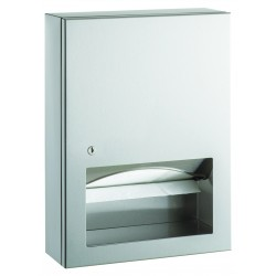Paper towel dispenser on bracket stainless steel with distribution window