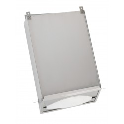 Paper towel dispenser vertical stainless steel to integrate behind a mirror or wall