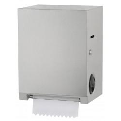 Dispensador de rollos de toalla de acero inoxidable con corte automático