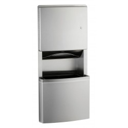 Recessed combination unit NOVA paper dispenser and waste bin design