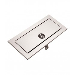 Solapa PUSH de acero inoxidable para contenedores horizontales o verticales