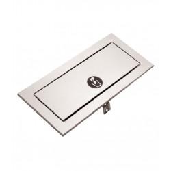 Trappe inox PUSH à clapet de poubelle horizontale  ou verticale