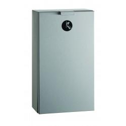 Poubelle sanitaire inox compacte porte basculante