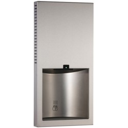 Recessed electric hand dryer design in stainless steel