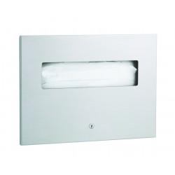 Distributeur inox de papiers couvre siège WC encastrable