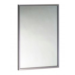 Mirror with stainless steel...